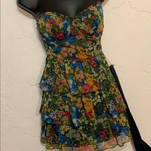 Abercrombie & Fitch Floral Tiered Dress